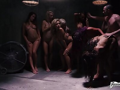 THE MOST INSANE 9 VS 1 GROUP Resemble SEX ORGY MARATHON YOU HAVE EVER SEEN! - Featuring: Dani Daniels / Carmen Callaway / James Deen / Jessica Ryan / Janice Griffith / Carmen Caliente & MORE!