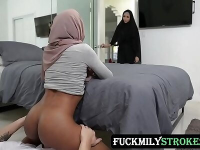 Pleasuring My Stepsister Surrounding Will not hear of Hijab - Milu Blaze - FULL SCENE on http://FuckmilyStrokes.com