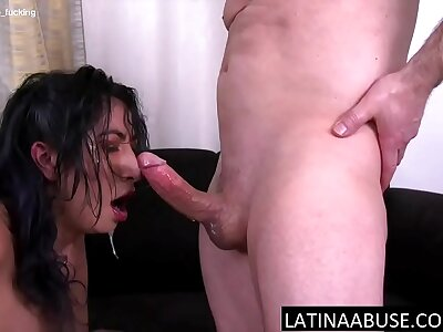 Latina wench facefucked to extreme