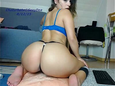 cute sexydea resplendent ass on live webcam